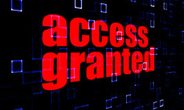 Access Granted on digital background Stock Images