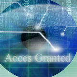 Access granted after eye scan Stock Photos