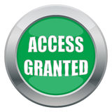 Access Granted Icon. An access granted icon in green  on a white background Royalty Free Stock Photography