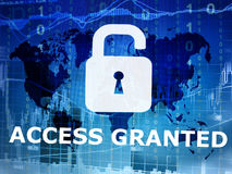 Access granted. Internet security concept Royalty Free Stock Image