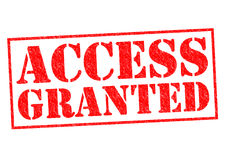 ACCESS GRANTED. Red Rubber Stamp over a white background Royalty Free Stock Image