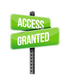 Access Granted road sign Royalty Free Stock Photo