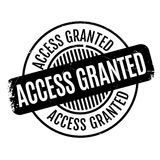 Access Granted rubber stamp Royalty Free Stock Photo