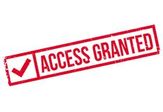 Access Granted rubber stamp Royalty Free Stock Photos