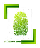 Access granted sign with thumb Royalty Free Stock Photos