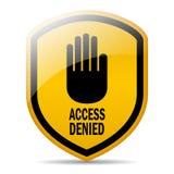Access ha negato Fotografia Stock Libera da Diritti