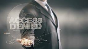 Access ha rifiutato ad uomo d'affari Holding le nuove tecnologie disponibile Fotografia Stock