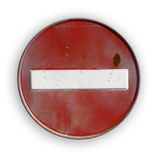ACCESS INTERDICTION ROAD SIGN. On a white background Royalty Free Stock Images