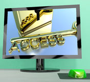 Access Key On Computer Screen Showing Security Stock Photography