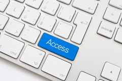 Access key. On a white keyboard Royalty Free Stock Photography