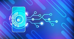 Access mobile chargeant l'identification et la protection APP de concept de sécurité de Smartphone Images stock