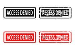 Access a nié le tampon en caoutchouc Image libre de droits