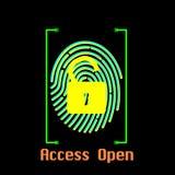Access ouvert Illustration Libre de Droits