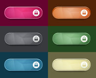 The access oval button set Stock Photo
