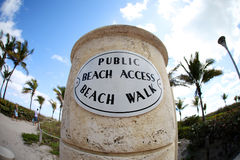 Access on public beach Stock Image