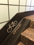 Access ramp for bikes on public transport in Chicago Royalty Free Stock Images