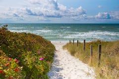 Access Ristinge beach Stock Photography
