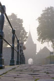 Access road through the gate to the fortress town, elburg, Royalty Free Stock Photos