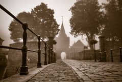 Access road through the gate to the fortress town, elburg, Stock Image