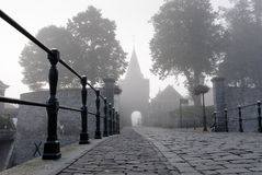 Access road through the gate to the fortress town, elburg, Royalty Free Stock Image