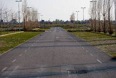 Access road to a parking Royalty Free Stock Images