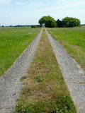Access route. A entranceway in perspective to a farmhous Stock Image
