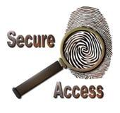 access säkert Fotografering för Bildbyråer