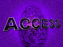 Access Security Indicates Forbidden Accessible And Entrance. Access Security Meaning Forbidden Accessibility And Protect Stock Photo