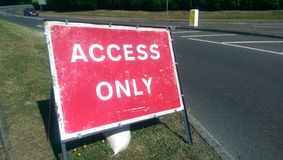 Access only. Sign stock image