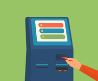 Access to ATM machine Stock Images