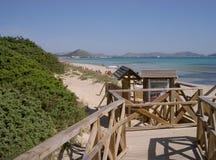 Access to the beach. Playa de Muro / Mallorca, Spain 2009 Stock Photos