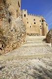 Access to the castle of Velez Blanco Stock Image