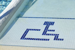 Access to the pool for handicapped Royalty Free Stock Images