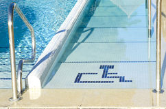 Access to the pool for handicapped Stock Photo