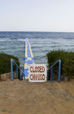 Access to the red sea closed. In Egypt Royalty Free Stock Images