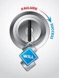 Access to success... the key is will Royalty Free Stock Image