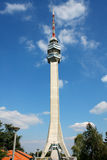 Access to the television tower on the Avala, Belgrade, Serbia Stock Images