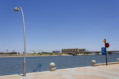 Access to Tempe City Lake Stock Images