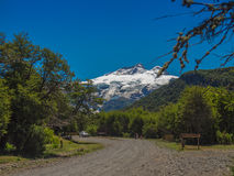 Access to Tronador. Location Pampa Linda, access to Cerro Tronador in the background - Bariloche - Patagonia - Argentina Stock Photography
