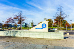 Access to the U-Bahn station Bundestag in Berlin Royalty Free Stock Photo