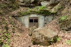 Access to the underground stock photo
