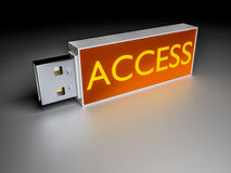 Access usb drive Stock Photography