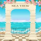 Access vers la mer par l'arcade Image stock
