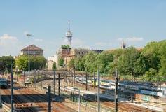 Access ways of railway station. Milan, Italy Royalty Free Stock Photo