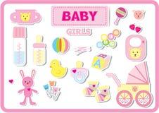 婴孩accesseries 库存照片