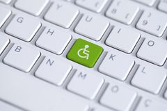 Free Accessibility Disability Computer Icon Royalty Free Stock Photos - 160365948