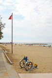 Accessibility for disabled people on the beach of the Adriatic S Stock Photography