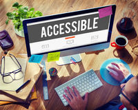 Accessible Approachable Attainable Available Business Concept Stock Image