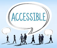 Accessible Approchable Attainable Available Business Concept Stock Photography