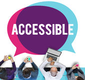 Accessible Approchable Attainable Available Business Concept Royalty Free Stock Images